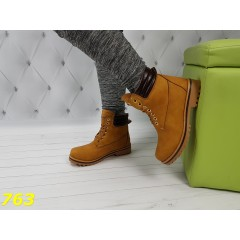 Ботинки тимбер коричневые зима очень теплые