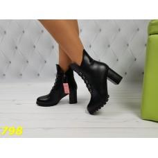 Ботинки зима на удобном невысоком каблуке
