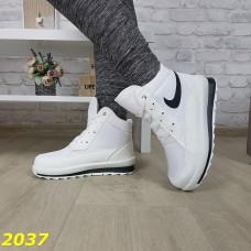 Дутики ботинки белые