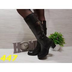 Сапоги демисезон на удобном каблуке