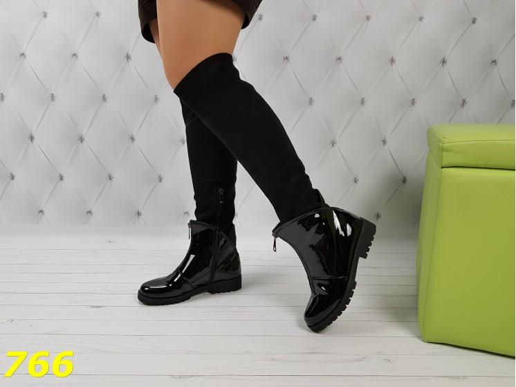 Эксклюзивные сапоги чулки ботинки на низком ходу