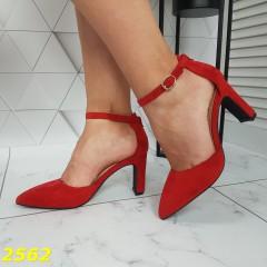 Босоножки с закрытым узким носком классика красные