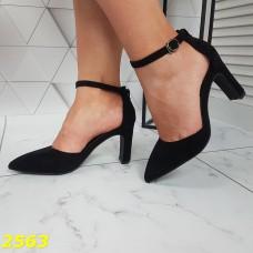 Босоножки с закрытым узким носком классика черные