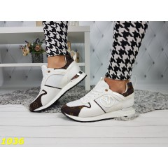 Кроссовки белые в стиле LV