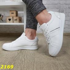 Кеды кроссовки белые легкие