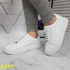 Кеды кроссовки белые из натуральной кожи классика