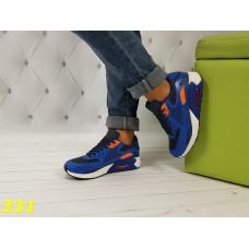 Кроссовки аирмакс сине-оранжевые