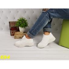 Кроссовки белые на массивной толстой подошве Баленсиага