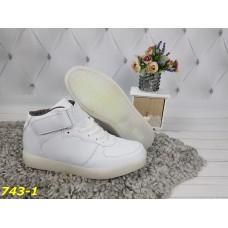 Кроссовки высокие форсы белые