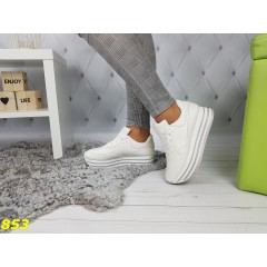 Кроссовки белые на высокой платформе