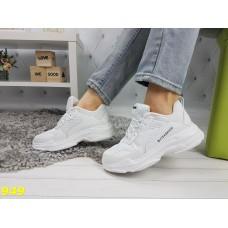 Кроссовки белые на массивной подошве Баленсиага