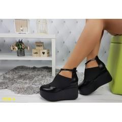 Туфли на платформе с танкеткой на резинке
