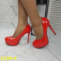 Туфли красные на шпильке с платформой