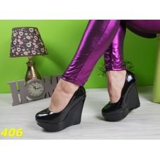 Туфли на платформе чёрные