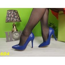Туфли лодочки синие цвет электрик