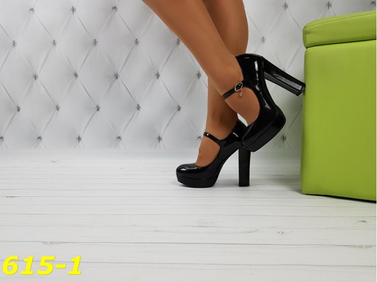 Туфли с застежкой лаковые