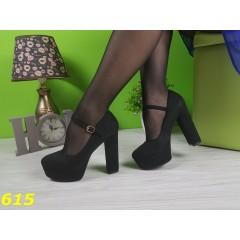 Туфли с застежкой на устойчивом каблуке